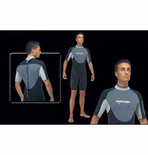 TEK 3/2 neoprenový oblek krátký, zip na zádech DACOR