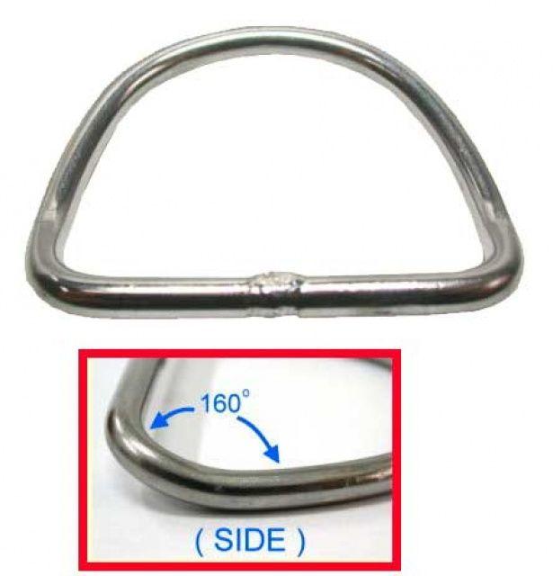 D-RING nerezový 160st. předehnutý tl.6mm NTEC