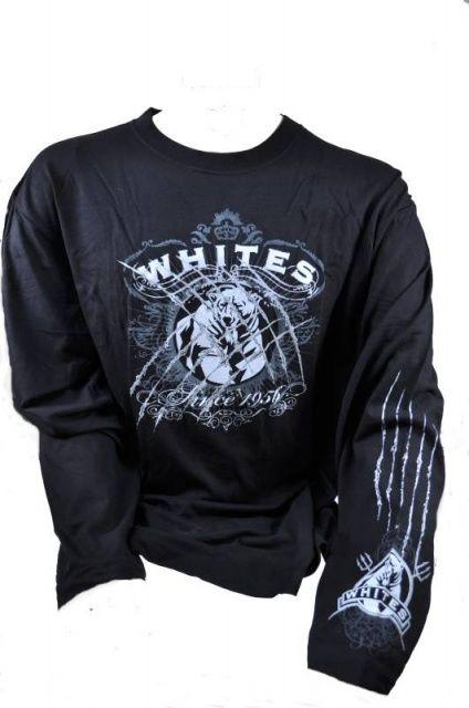 T-SHIRT LONG BEAR SCRATCH whites