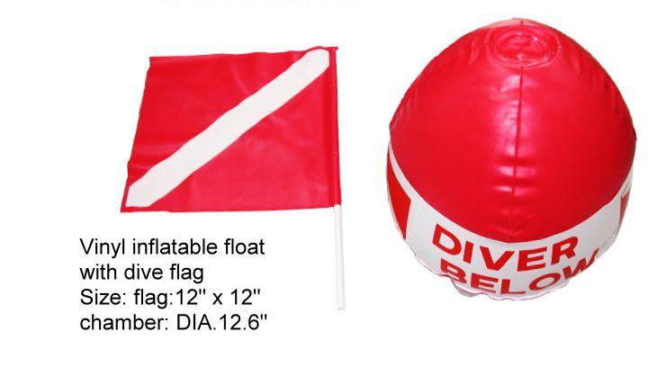 Boje DIVER BELOW s vlajkou k označení místa potápění NTEC