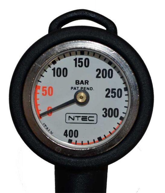 Tlakoměr 400 bar s vysokotlakou hadicí 18cm NTEC