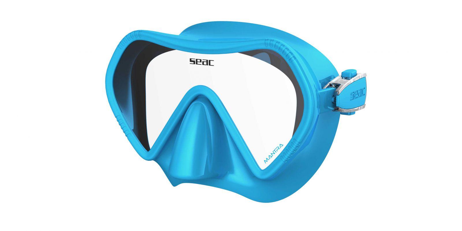 Skvěle padnoucí bezrámová silikonová maska MANTRA SEAC SUB